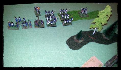 Dywizja Moranda, bez pułku lekkiej piechoty westfalskiej, wydzielonego do zajęcia Krupek.