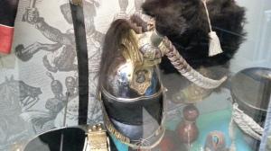 Kask kirasjerski z okresu bitwy pod Waterloo.