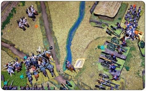 Kiedy wydawało się, że kirasjerzy zdobędą wszystkie armaty, kontratak zmęczonych, ale dzielnych polskich ułanów spowodował ucieczkę Rosjan. Armaty zostały ocalone! RIS